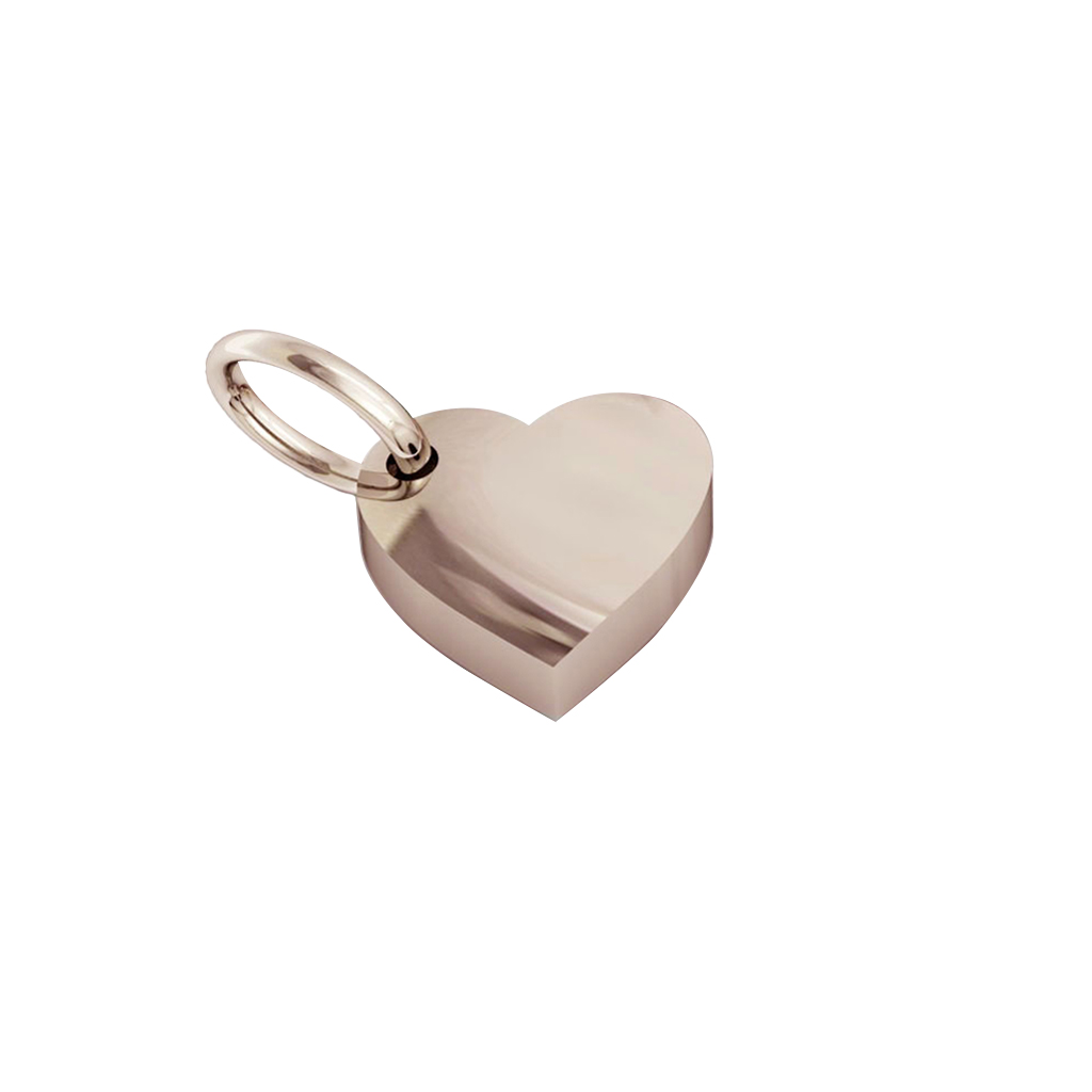 Small Heart Pendant, hand finished, made of 14 karat rose gold