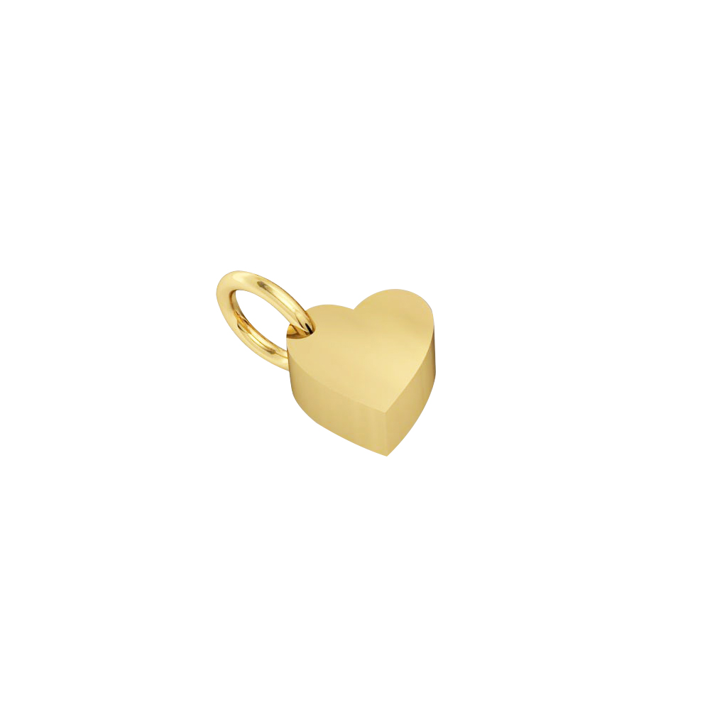 little heart pendant, made of 925 sterling silver / 18k gold finish