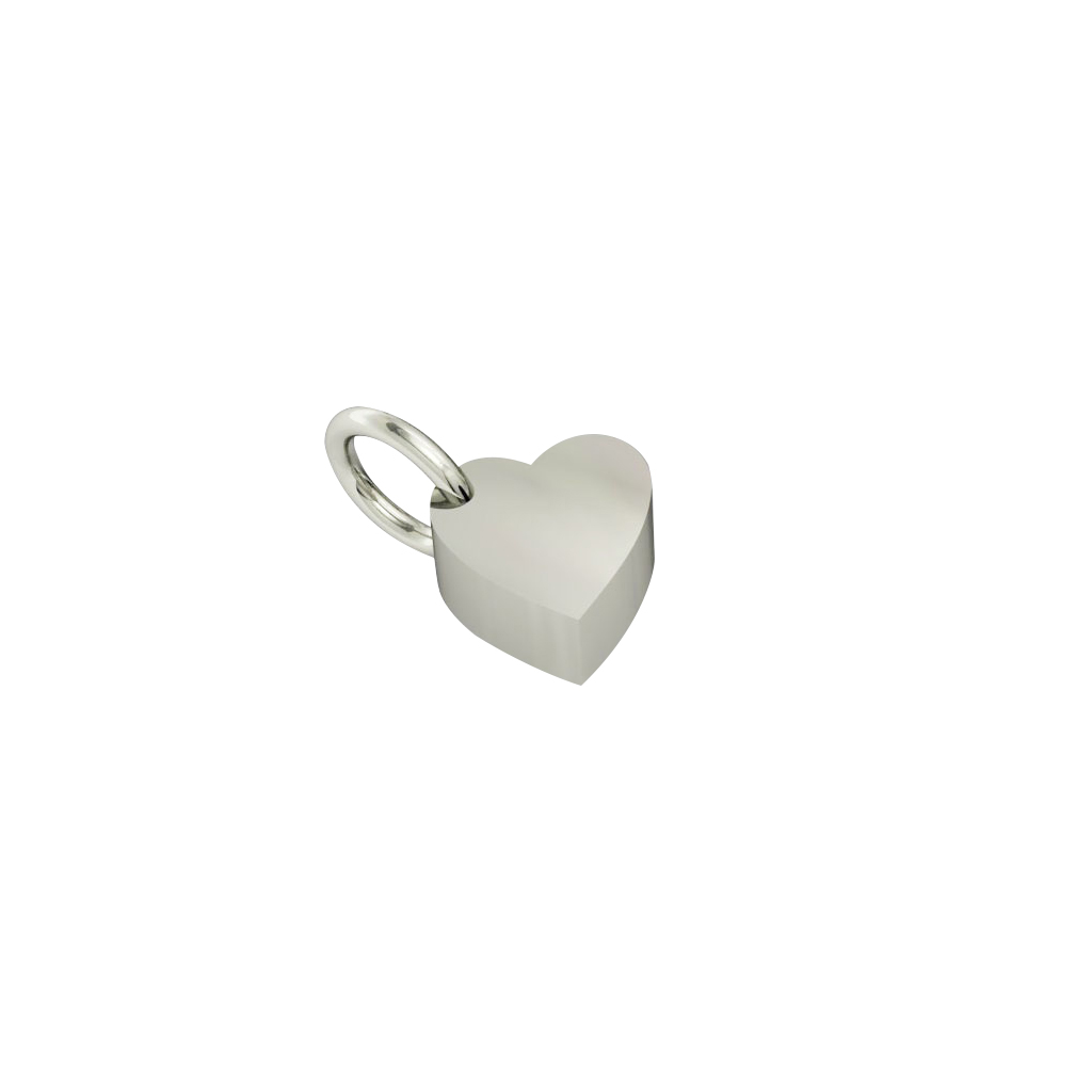 little heart pendant, made of 925 sterling silver / 18k white gold finish