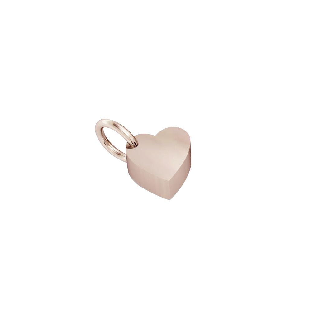 little heart pendant, made of 925 sterling silver / 18k rose gold finish