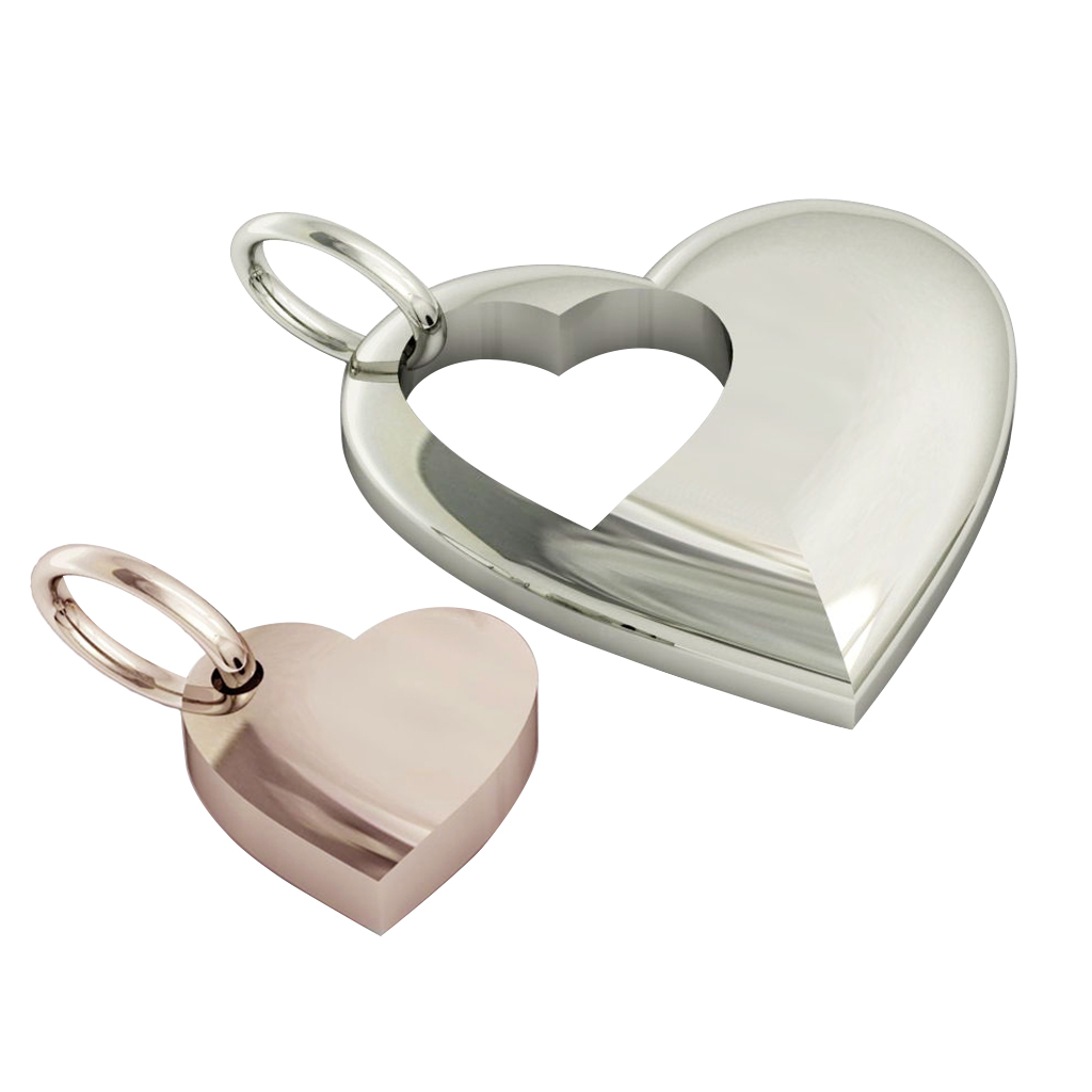 twin hearts, mother and daughter cobo pendant, made of 925 sterling silver / 23