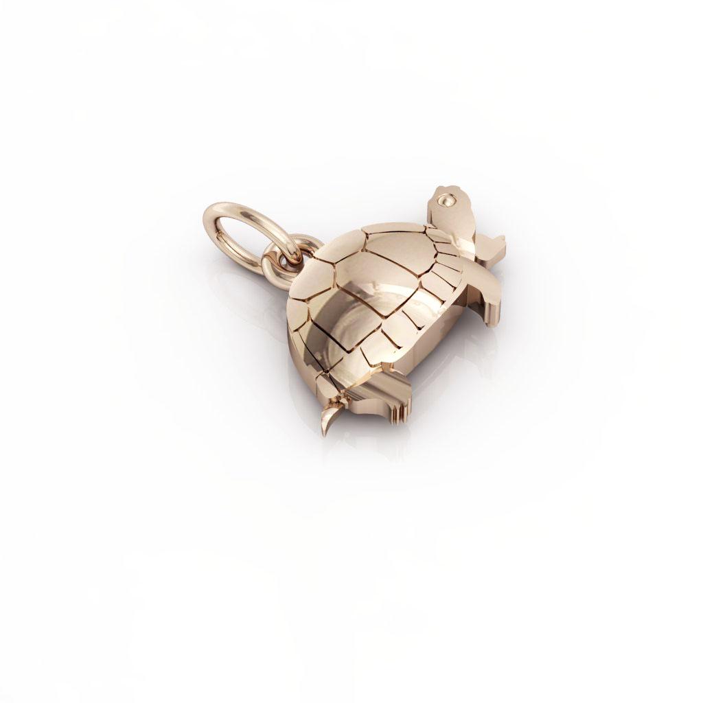 Little Tortoise pendant, made of 925 sterling silver / 18k rose gold finish