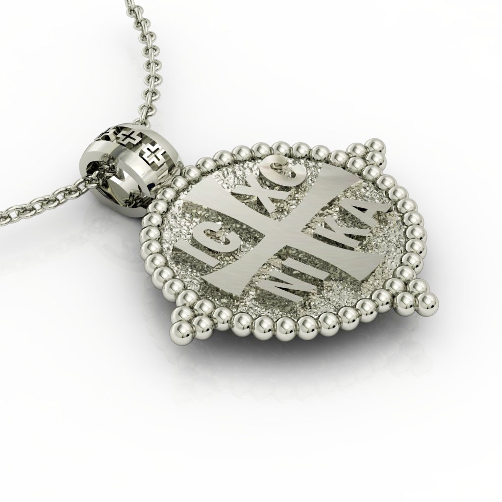Constantine the Great Coin Pendant 5, made of 925 sterling silver / 18k gold finish / front side