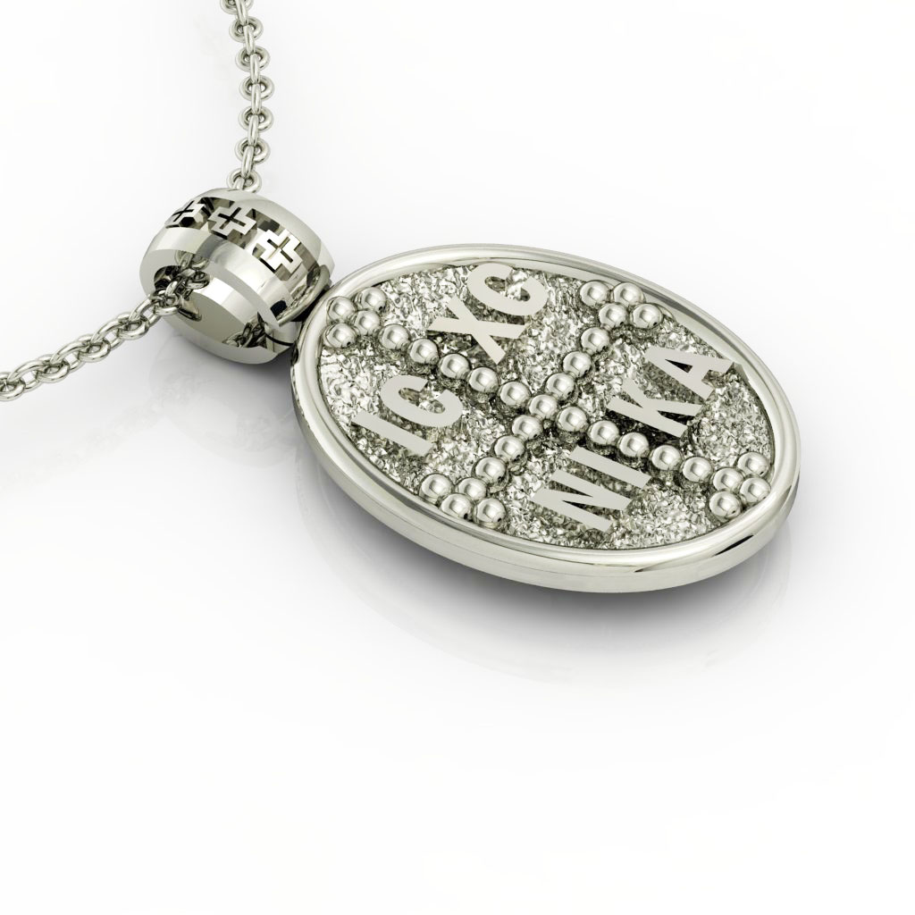 Constantine the Great Coin Pendant 9, made of 925 sterling silver / 18k gold finish / front side