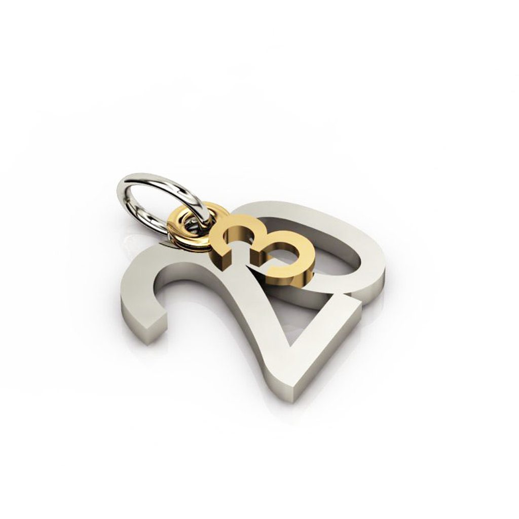 date pendant March 20th made of 925 sterling silver / 21