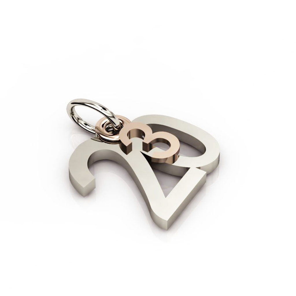date pendant March 20th made of 925 sterling silver / 23