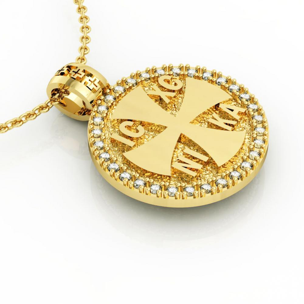 Constantine the Great Coin Pendant 1, made of 925 sterling silver / 18k gold finish / front side