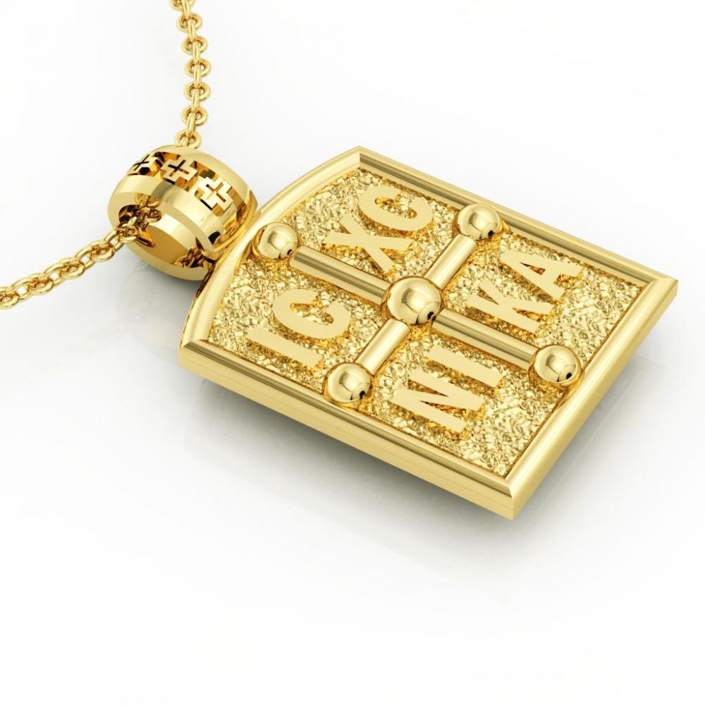Constantine the Great Coin Pendant 3, made of 925 sterling silver / 18k gold finish / front side