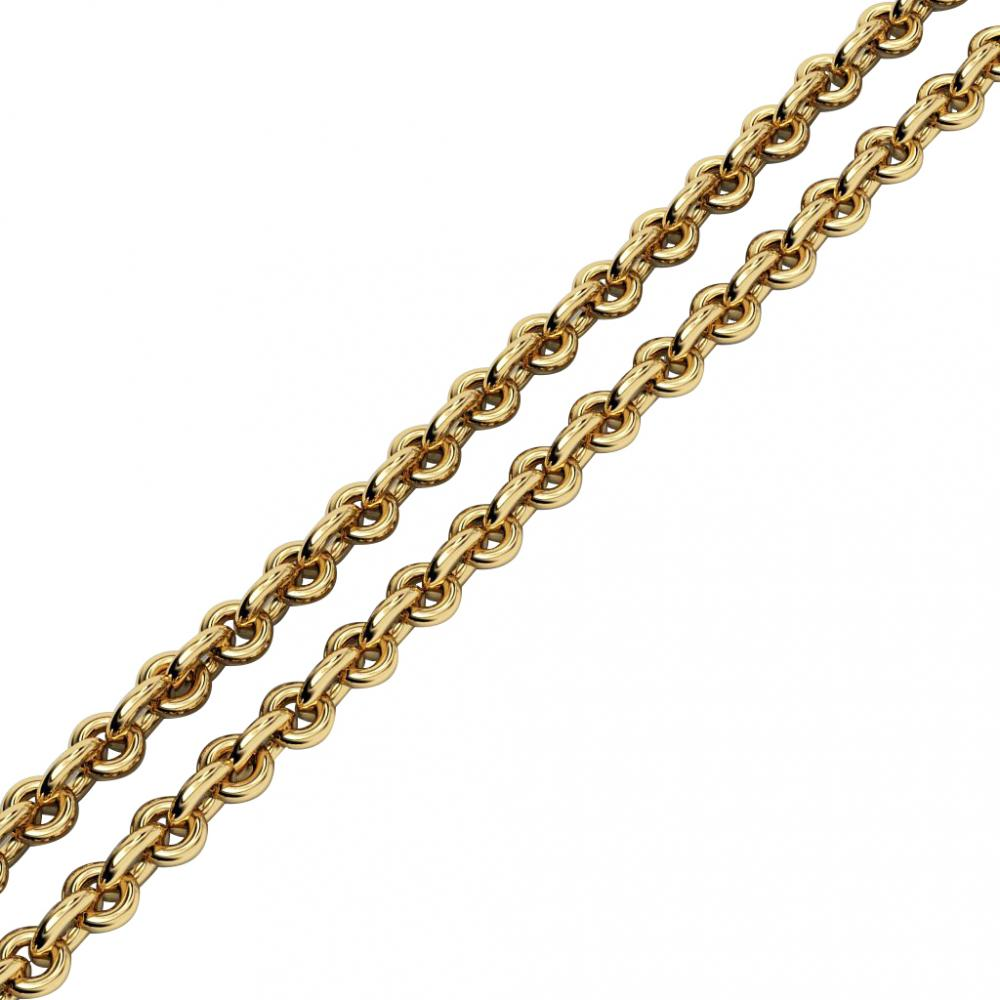 rollo-98 chain necklace, made of 18k yellow gold vermeil on 925 sterling silver / 40 cm – 15,75''