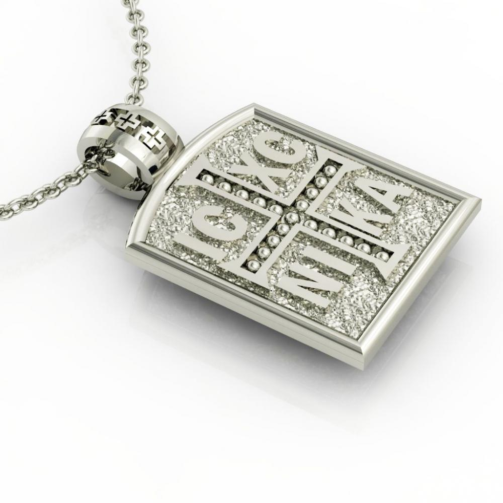 Constantine the Great Coin Pendant 4, made of 925 sterling silver / 18k gold finish / front side