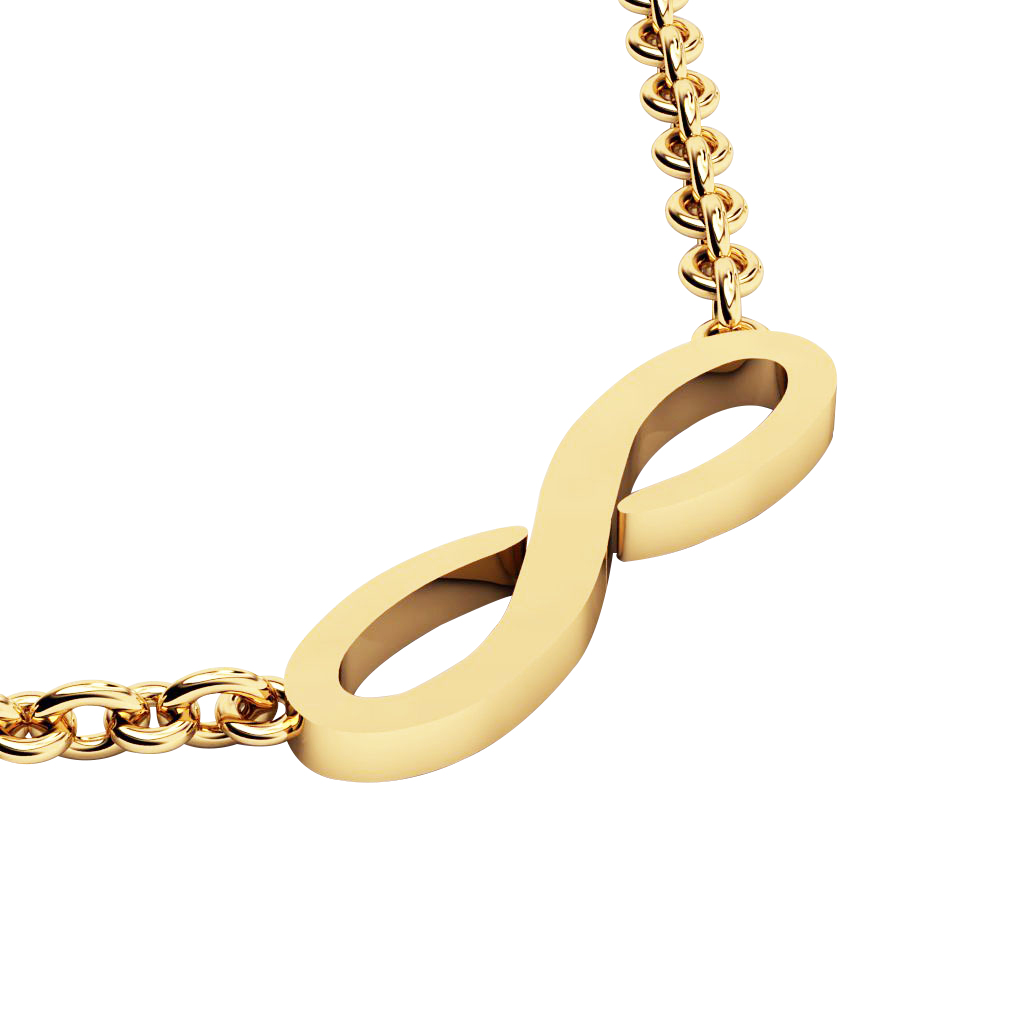 Infinity Necklace, made of 925 sterling silver / 18k gold finish