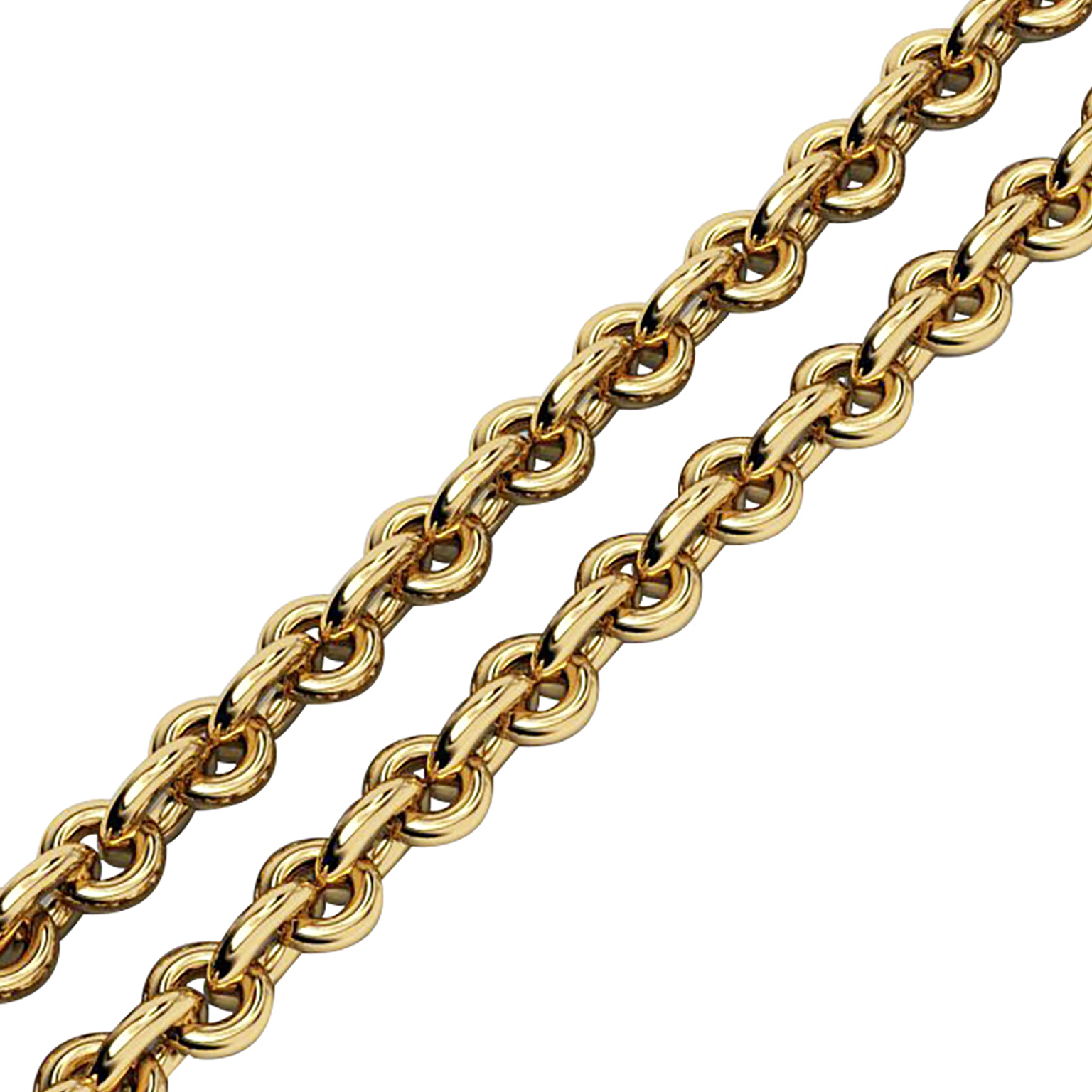 rollo-99 chain necklace, made of 18k yellow gold vermeil on 925 sterling silver / 40 cm – 15,75''