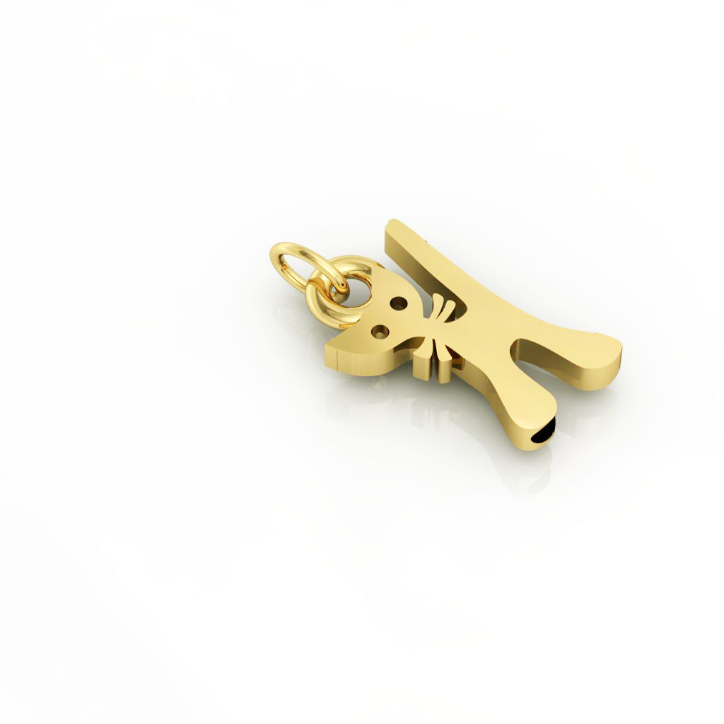 Little Cat 1 pendant, made of 925 sterling silver / 18k gold finish