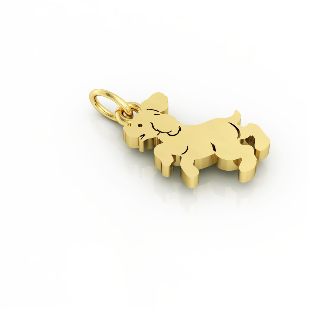 Little Dog 1 pendant, made of 925 sterling silver / 18k gold finish