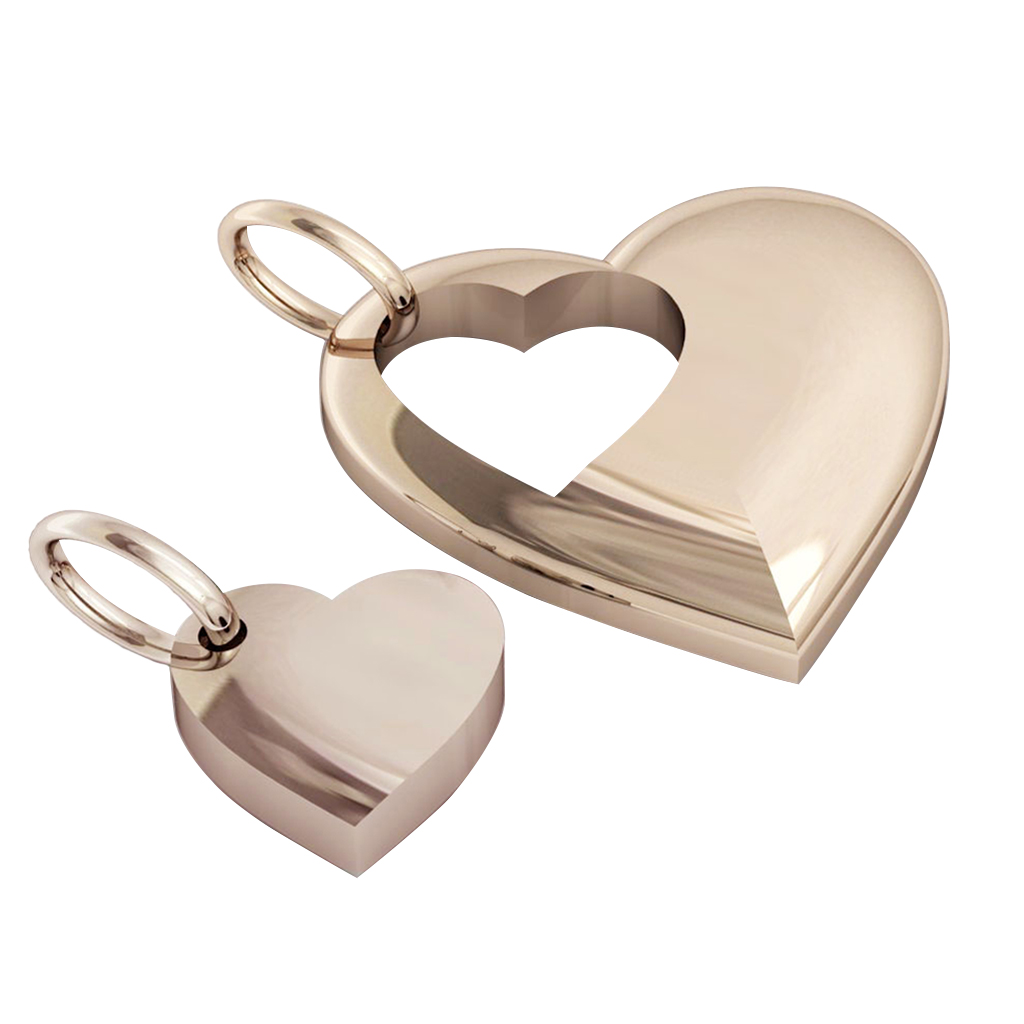 twin hearts, mother and daughter cobo pendant, made of 925 sterling silver / 33