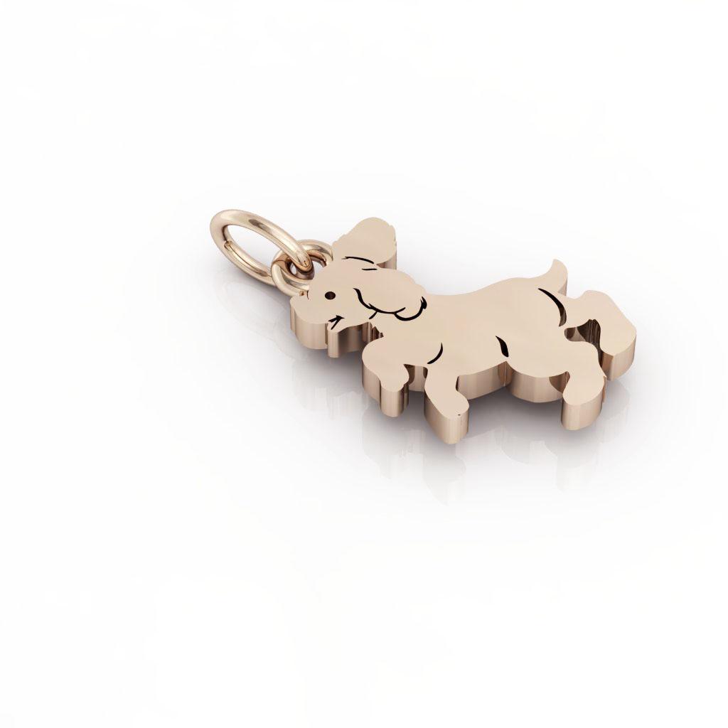 Little Dog 1 pendant, made of 925 sterling silver / 18k rose gold finish