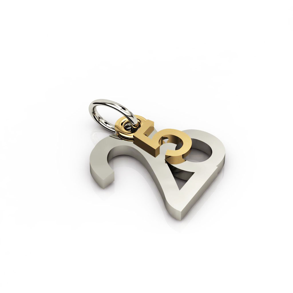 date pendant May 26th made of 925 sterling silver / 21