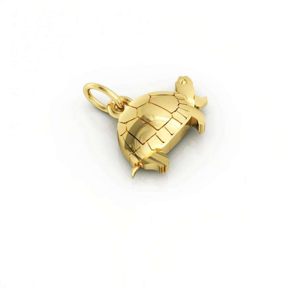 Little Tortoise pendant, made of 925 sterling silver / 18k gold finish
