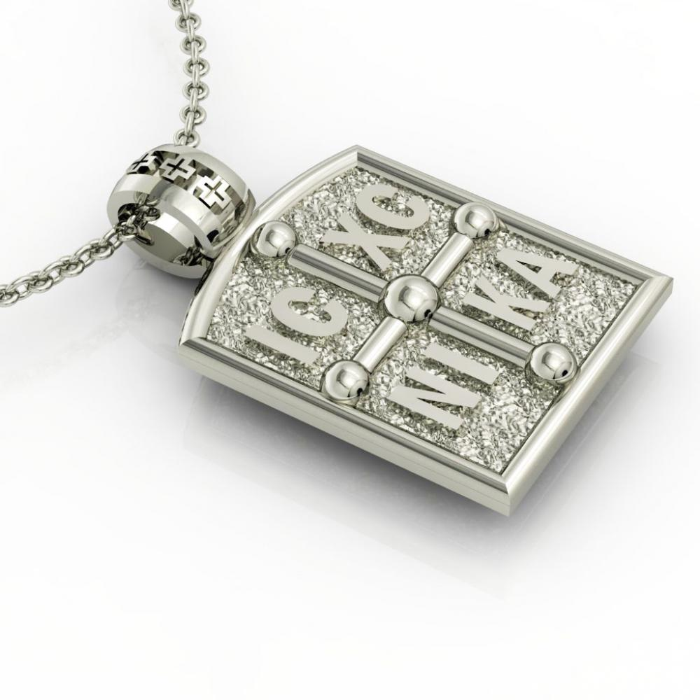 Constantine the Great Byzantine Coin Pendant 3, made of 925 sterling silver  / 18k white gold finish